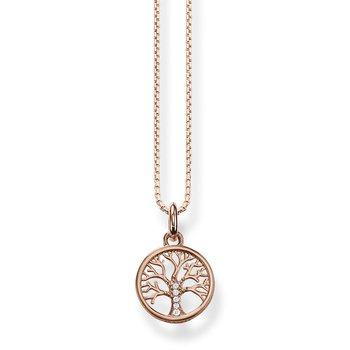 Necklace Tree of Love rose gold plated KE2092-416-14-L42V