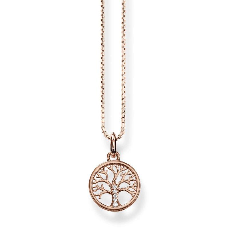 Thomas Sabo Necklace Tree of Love rose gold plated KE2092-416-14-L42V
