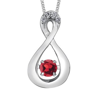 Garnet & Diamond Pulse Necklace