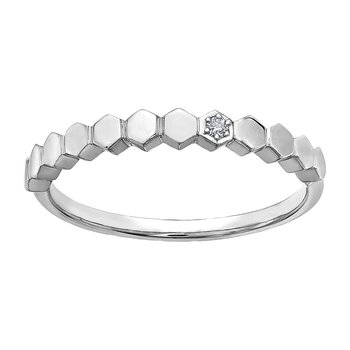 Ladies White Gold Band