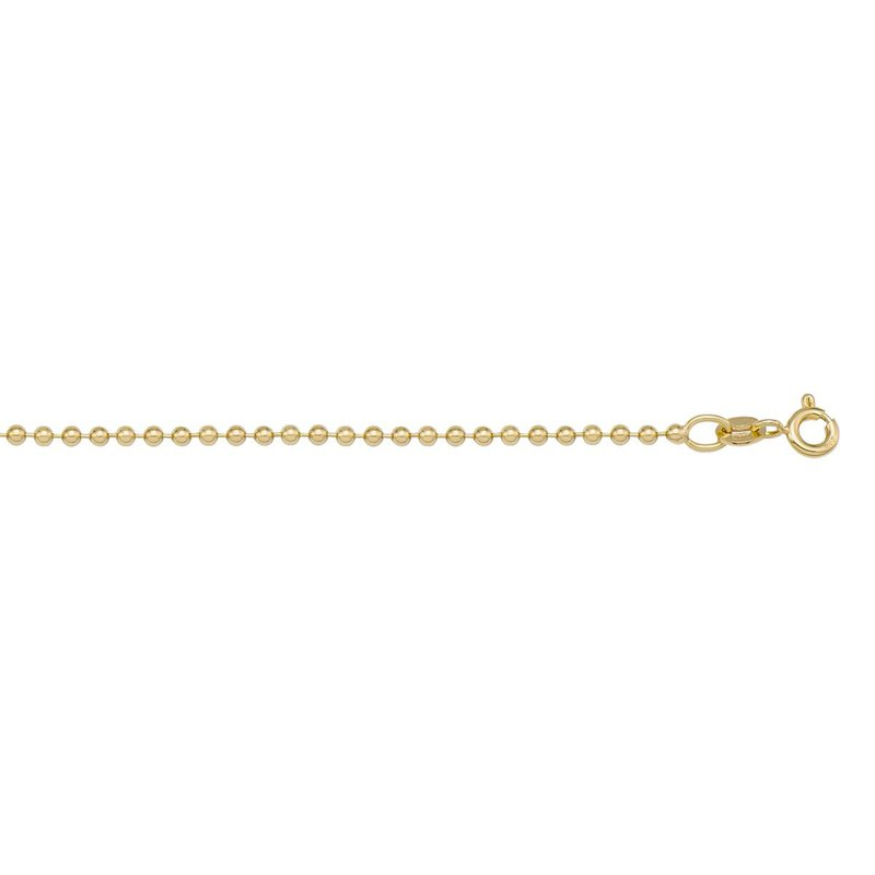 """Ashley 1.2mm Bead Chain in 14kt Gold - 18"""""""