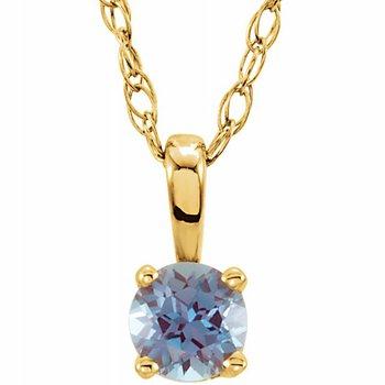 Children's Necklace - Imitation Alexandrite June Birthstone