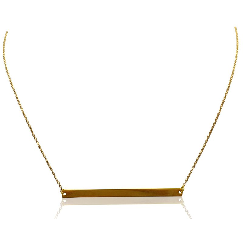 Ashley Yellow Gold Horizontal Bar Necklace