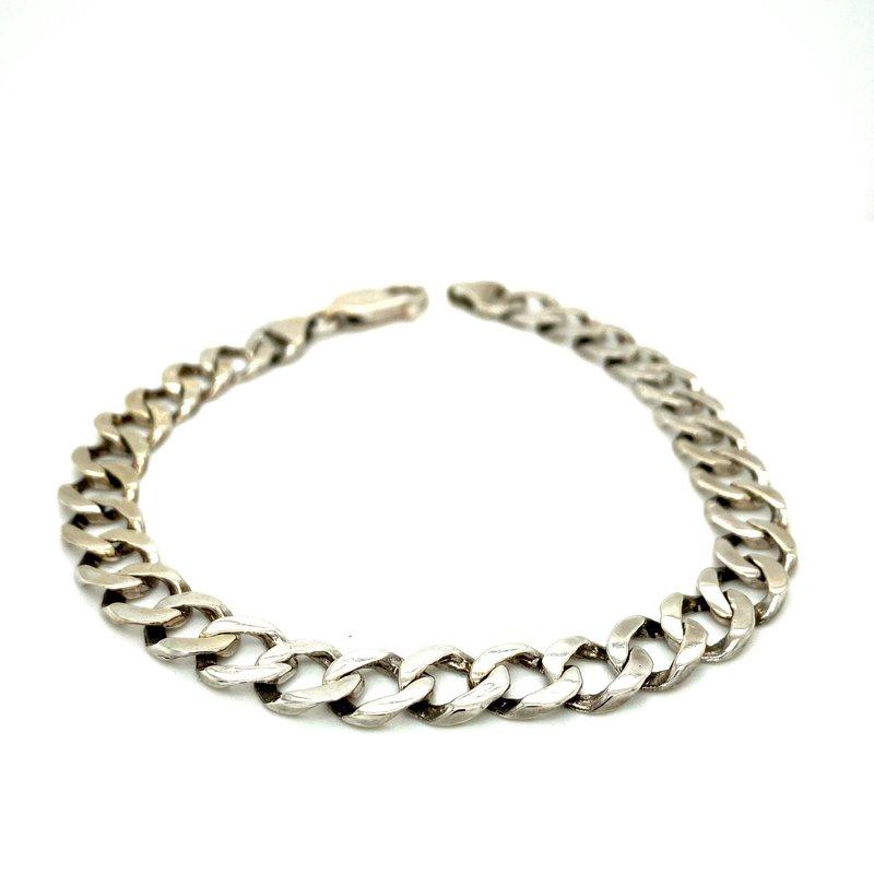 Ashley Men's White Gold Bracelet