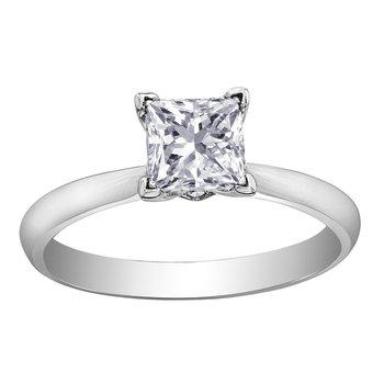 1.50 carat Princess Cut Diamond Engagement Ring with Accent Diamonds