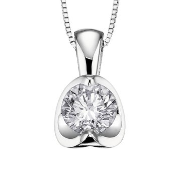 Half-Moon Diamond Necklace
