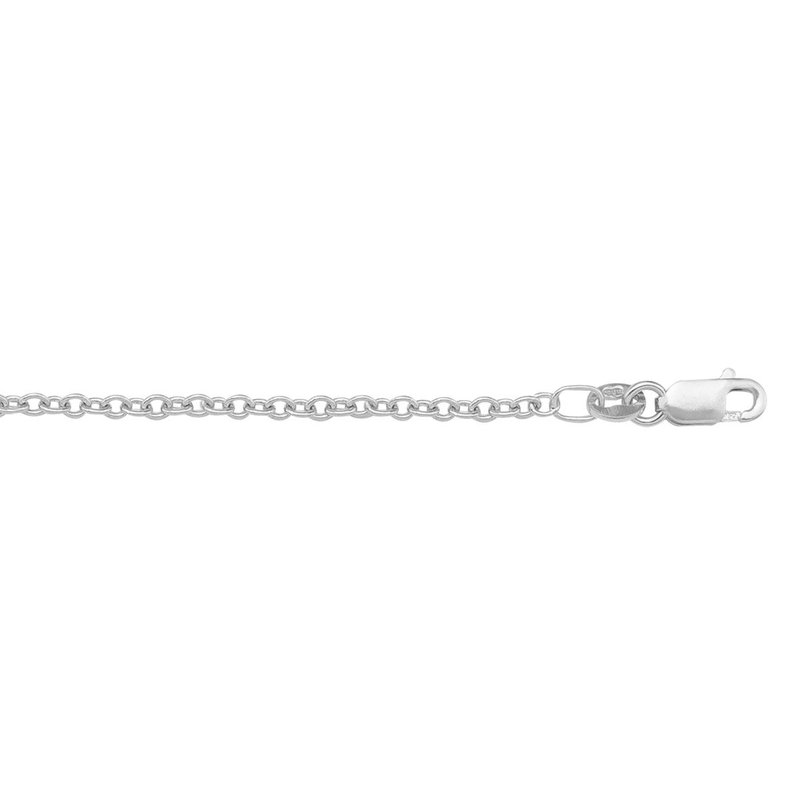 """Ashley 1.2mm Cable Chain In Platinum - 16"""""""