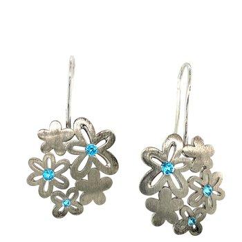 Silver & Blue Topaz Earrings