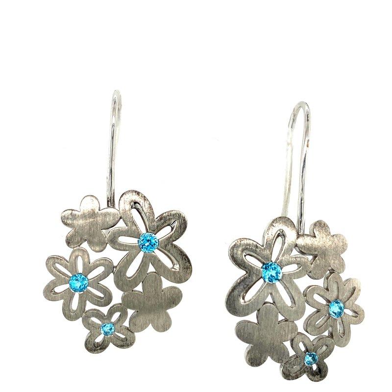 Ashley Silver & Blue Topaz Earrings