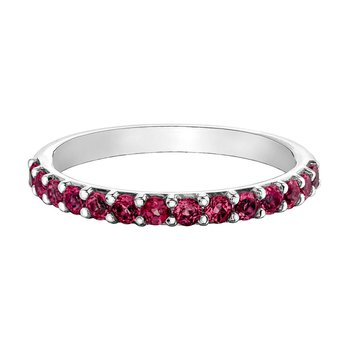 Ladies Synthetic Ruby Band