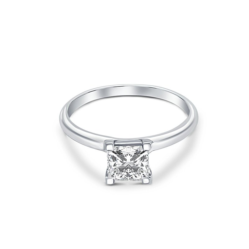 Ashley Princess Cut Engagement Ring