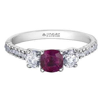 Ladies Ruby & Diamond Ring