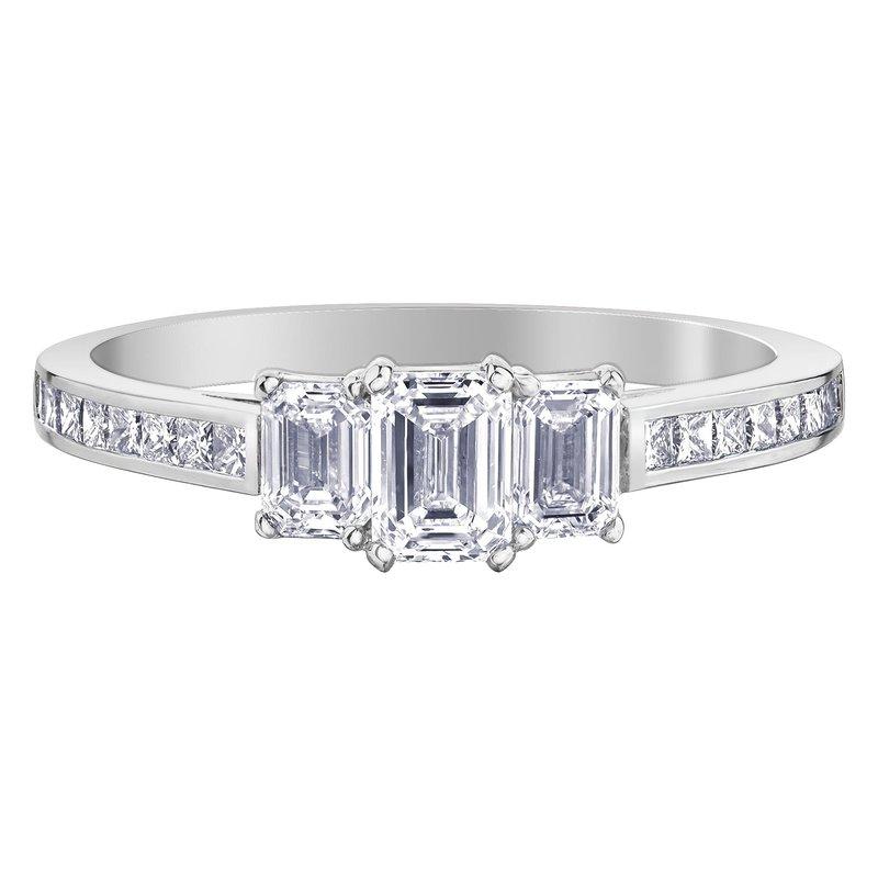 Ashley Emerald & Princess Cut Diamond Engagement Ring