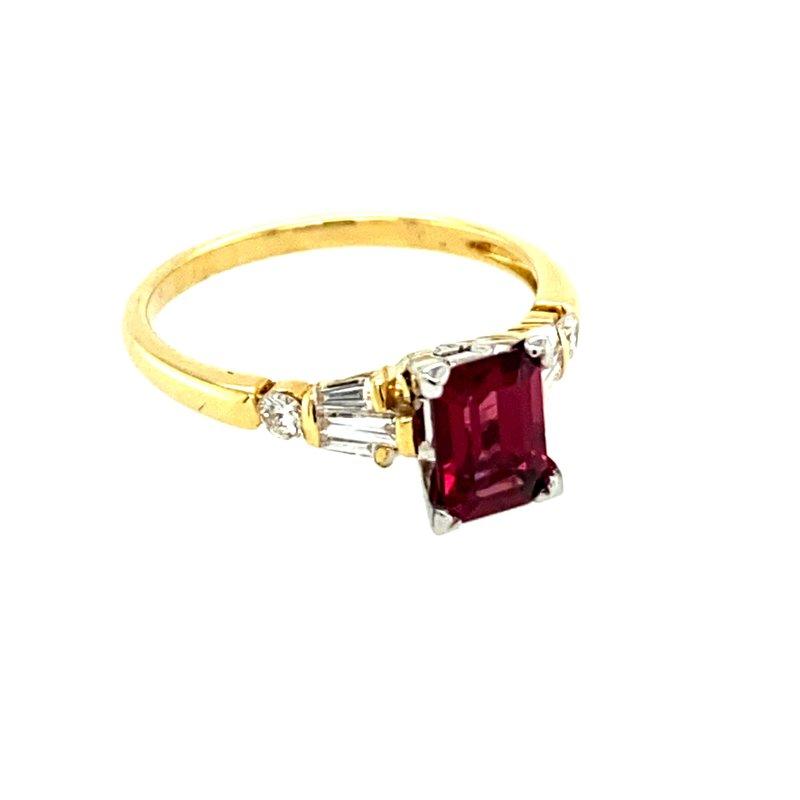 Ashley Rhodolite Garnet & Diamond Ring