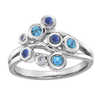 Blue Topaz & Tanzanite Ring