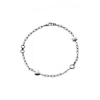 Silver Heart & Link Bracelet