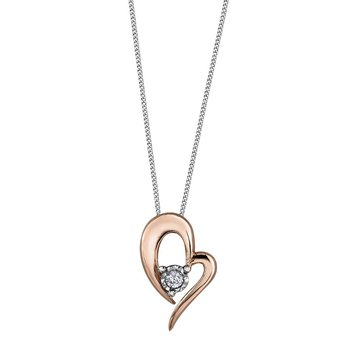 Heart Shaped Diamond Necklace