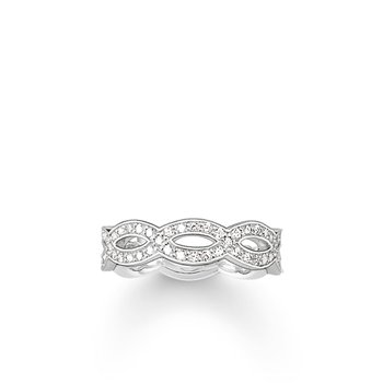 Zirconia Love Knot Eternity Ring