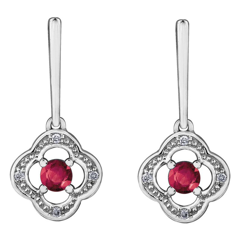 Ashley Ruby & Diamond Earrings