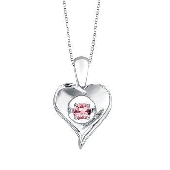 Pink Topaz Pulse Necklace