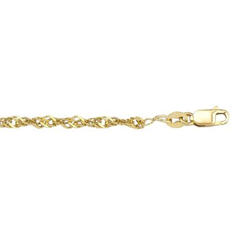 Ladies Yellow Gold Ankle Bracelet