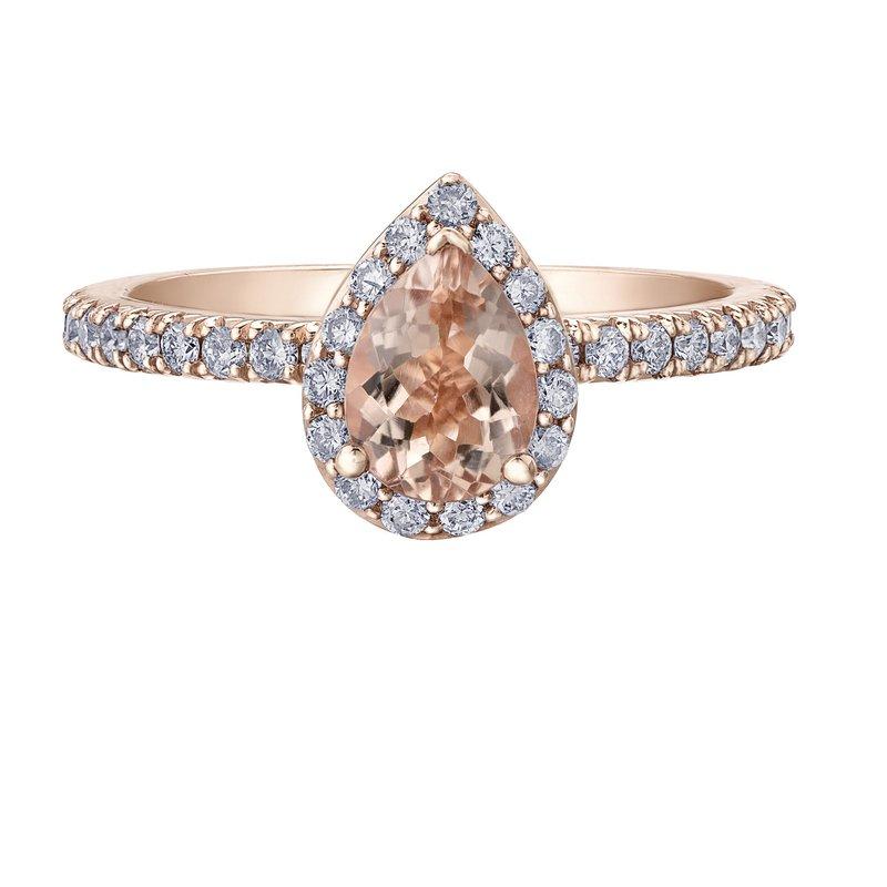 Ashley Ladies Morganite & Diamond Ring