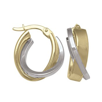 Two-Tone Hoop Earrings