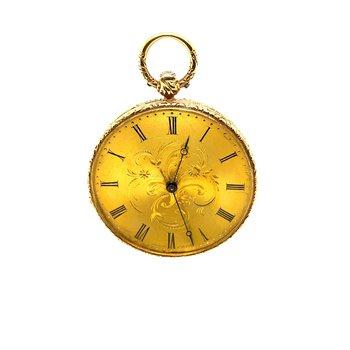 18 Kt Yellow Gold Stauffer Pocket Watch 1870 Swiss