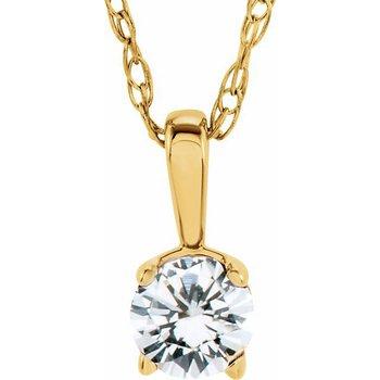Children's Necklace - April Birthstone
