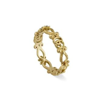 Flora Ring in Yellow Gold with Diamonds