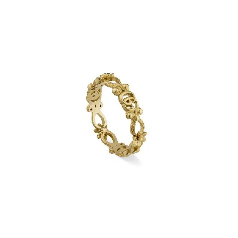 Gucci Flora Ring in Yellow Gold with Diamonds
