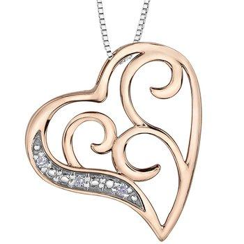 DIAMOND SET HEART SHAPED NECKLACE
