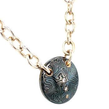 Titanium & Diamond Necklace