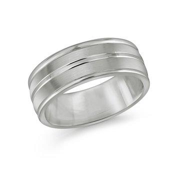 Tungsten Wedding Band Size 10 8mm.