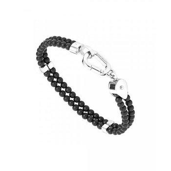 Wrap Me Bracelet Duo Black Onyx and Steel