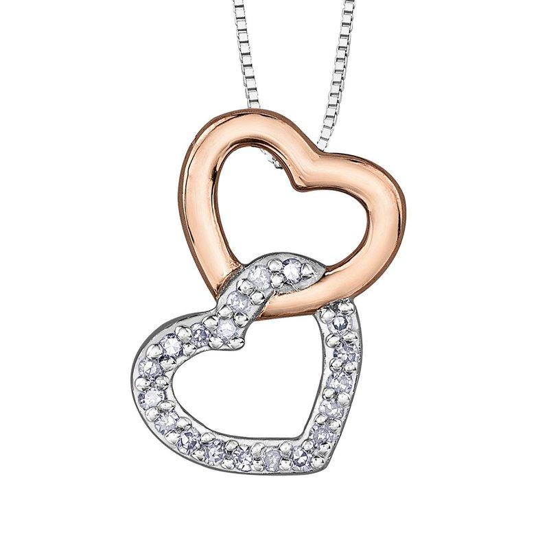Ashley INTERLOCKING HEART SHAPE DIAMOND SET NECKLACE
