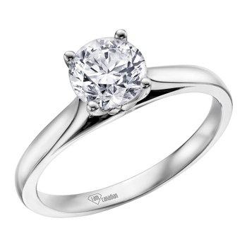 Solirare .70crt Platinum Engagewment Ring