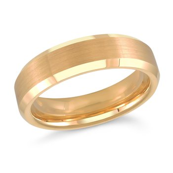 6mm Tungsten Yellow gold Plated edding Band