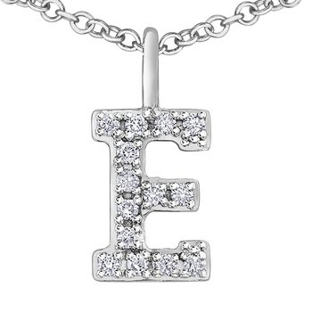 Initial E Necklace