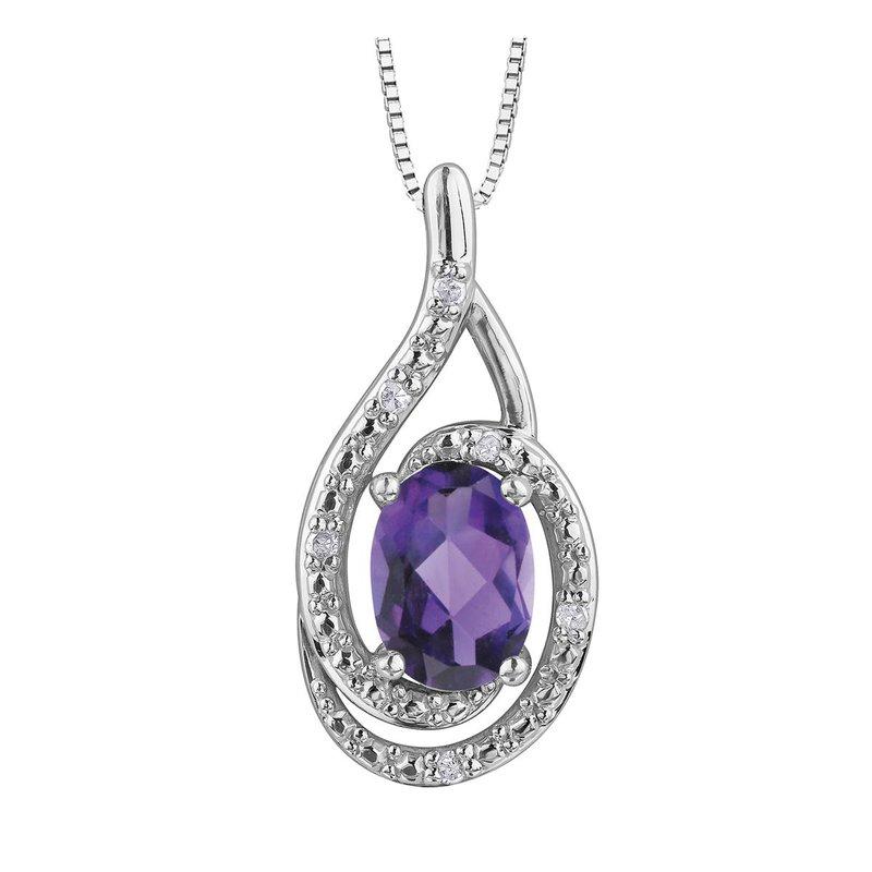 Ashley Amethyst & Diamond Necklace