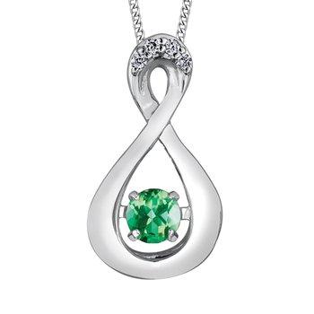 Emerald & Diamond Pulse Necklace