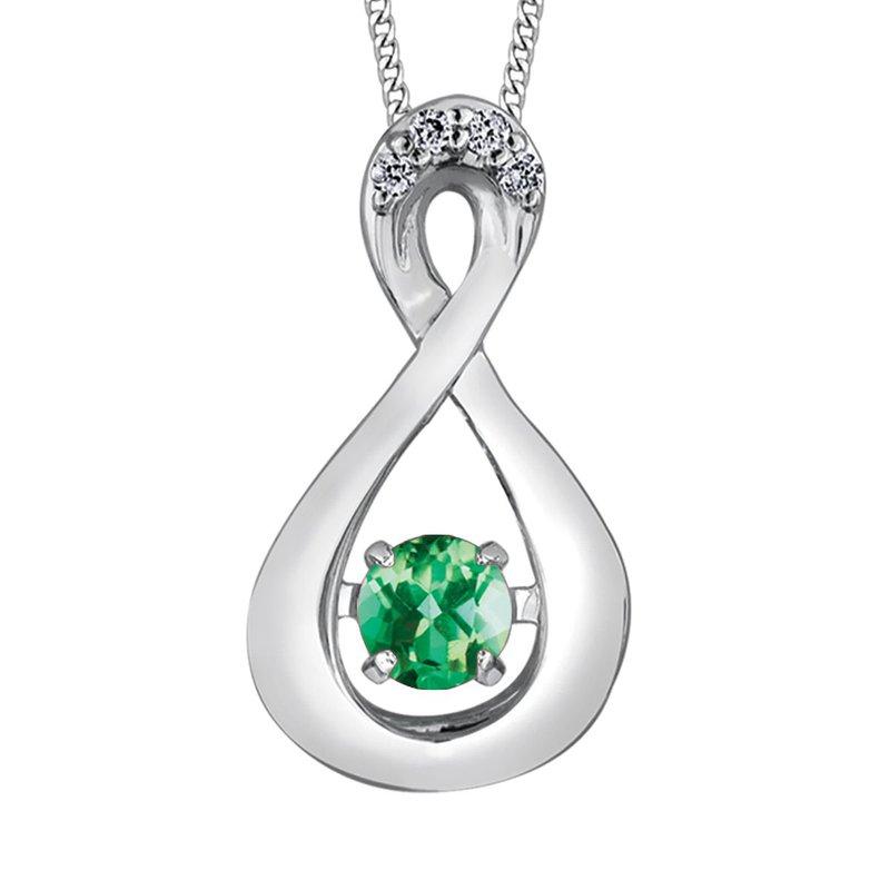 Ashley Emerald & Diamond Pulse Necklace
