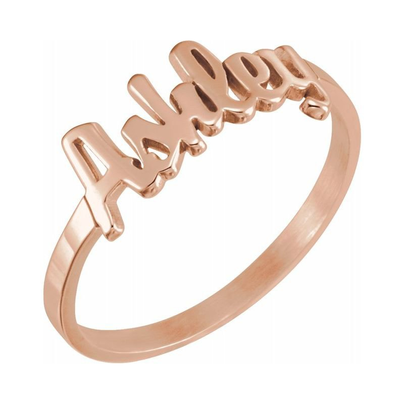 Ashley Name Plate Ring