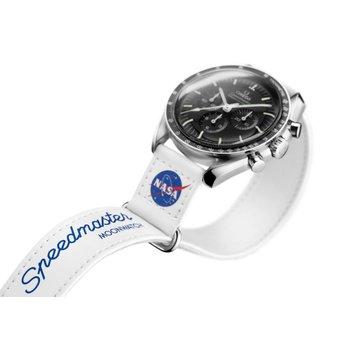 2-piece white Speedmaster Moonwatch VELCRO® strap  032CWZ01604
