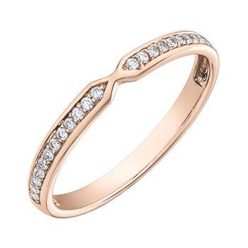 Rose Gold Diamond Set Ring