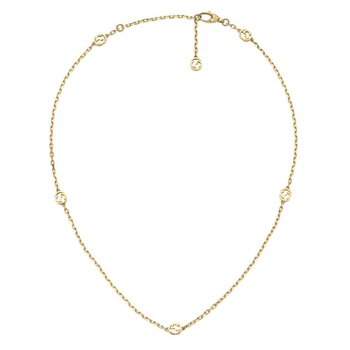Interlocking G 18ct Yellow Gold Chain Necklace YBB629901001