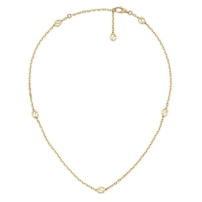 Gucci Interlocking G 18ct Yellow Gold Chain Necklace YBB629901001