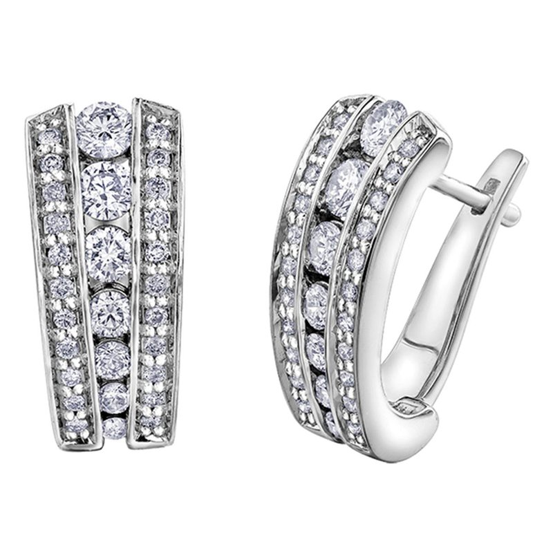 Ashley White Gold Diamond Earrings
