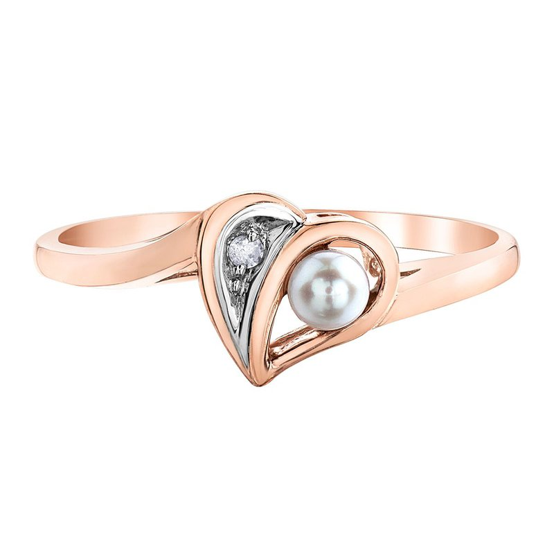 Ashley Rose Gold Pearl Ring