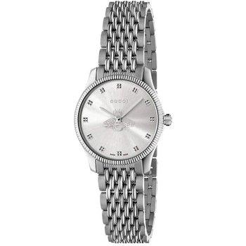G-Timeless 29mm Slim Bee Silver Bracelet Watch